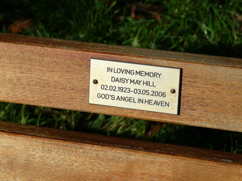 Daisy's Memorial Bench Plaque