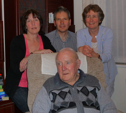 Fred and Liz, Kevin and Helen on his 90th birthday