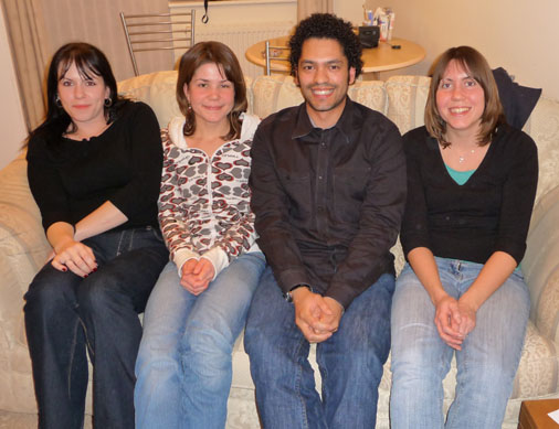 Hannah, Amy, Michael and Lynette