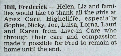 Fred Acknowledgement Notice