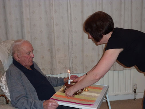 Fred on his 91st Birthday